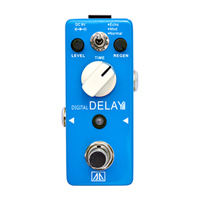 Digital Delay Guitar Effect Pedal Level Regen Time Control AA Series Effects for Electric Guitar  True bypass aroma pure echo digital delay guitar effect mini analogue pedal ape 3 true bypass metal shell level knob durable accurate