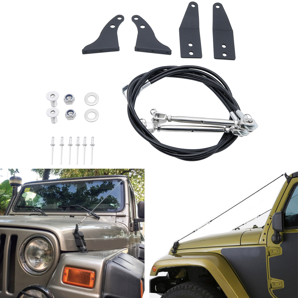 Faithful Limb Risers Kit Fit For Jk Jeep Wrangler Parts 2007-2018 Limb Risers Through The Jungle Protector Obstacle Eliminate Rope