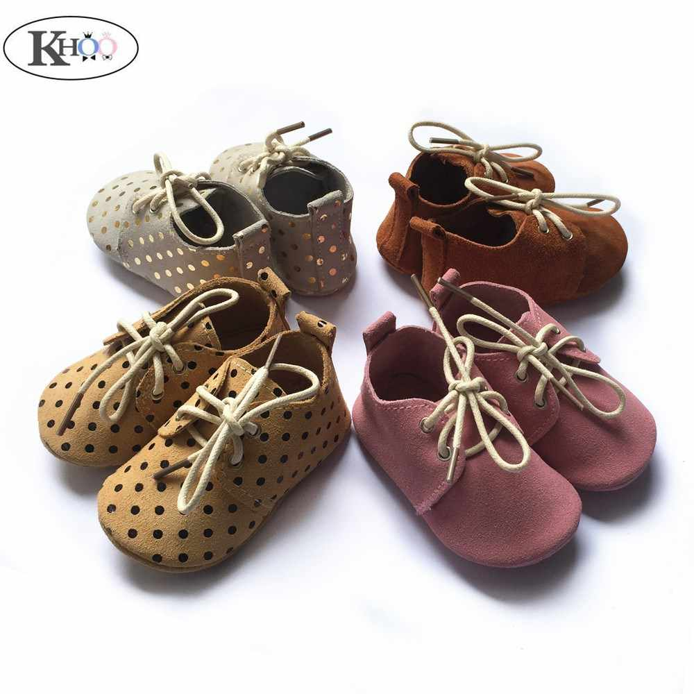 Kinghoo leather baby moccasins shoes
