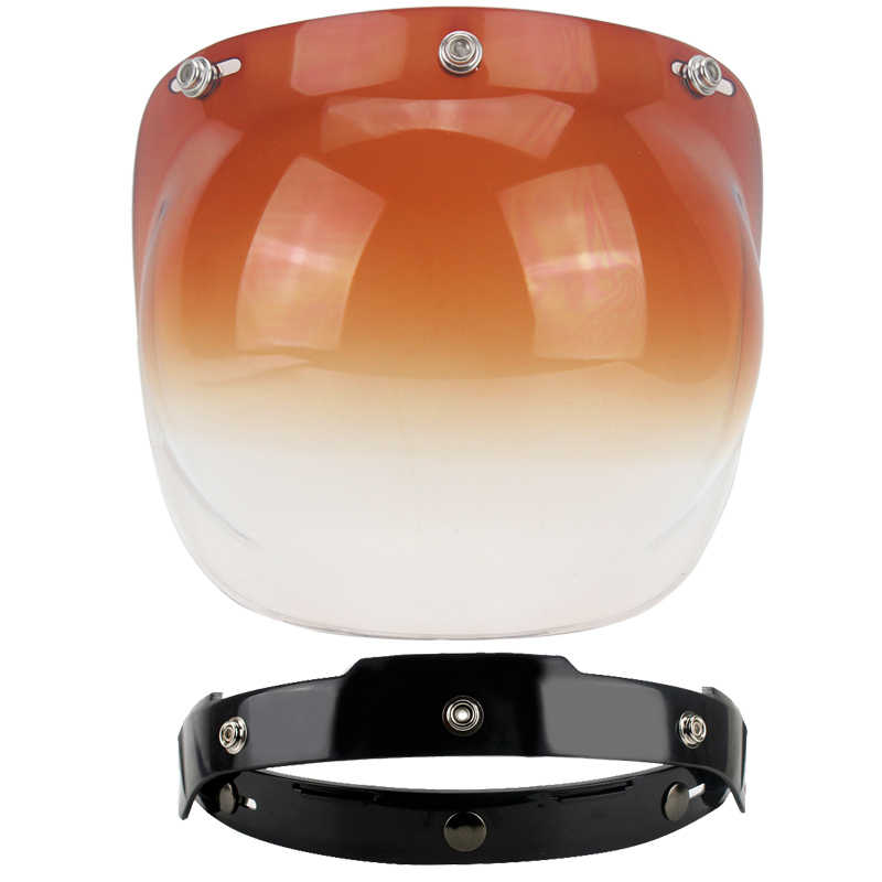 Universal Flip Up Lensa Gelembung Face Shield Visor Masker untuk Bitwell VINTAGE Retro Helm Sepeda Motor MOTO Capacete Casco Casque