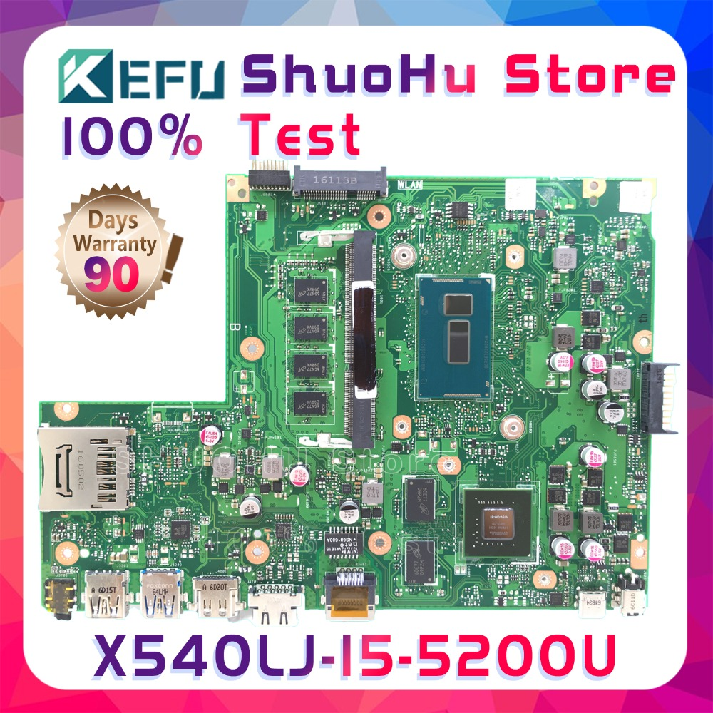 KEFU X540L For ASUS X540LJ F540L CPU I5-5200U 4GB Memory Rev2.1 Laptop Motherboard Tested 100% Work Original Mainboard