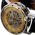 Moda Relógio Dos Homens de Esqueleto Da Mão-Liquidação relógio de Pulso Mecânico Relogio masculino W1507