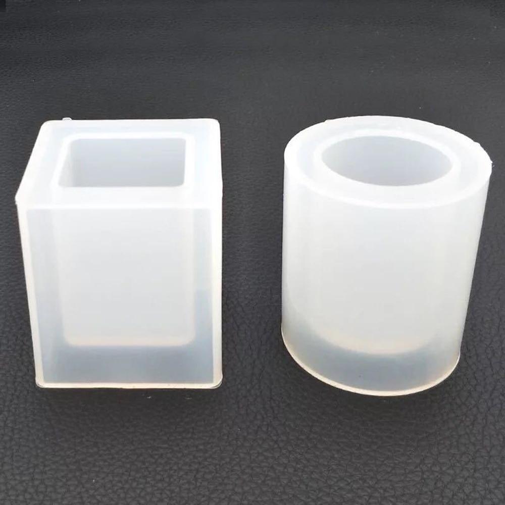 Silicone Mold DIY Transparent Dried Flower Resin Decorative Craft Storage Flower Pot Pen Holder Epoxy Resin Molds