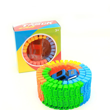 2 BOX Diecast DIY Puzzle Toy Roller Coaster Track Electronics Toy Car Rail Car Toy for Children Multi-track Car Track Car