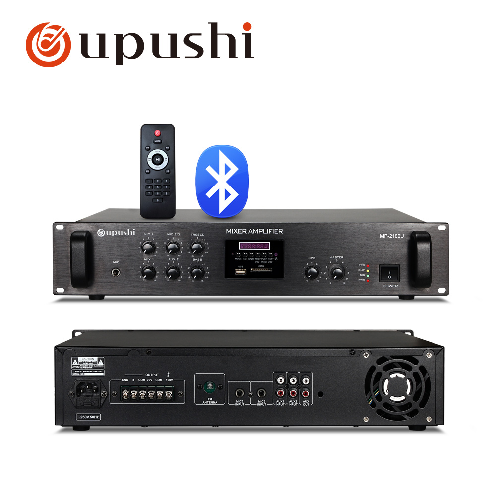 Bluetooth pa amplifier home audio amp support remote control USb SD card FM for home surround