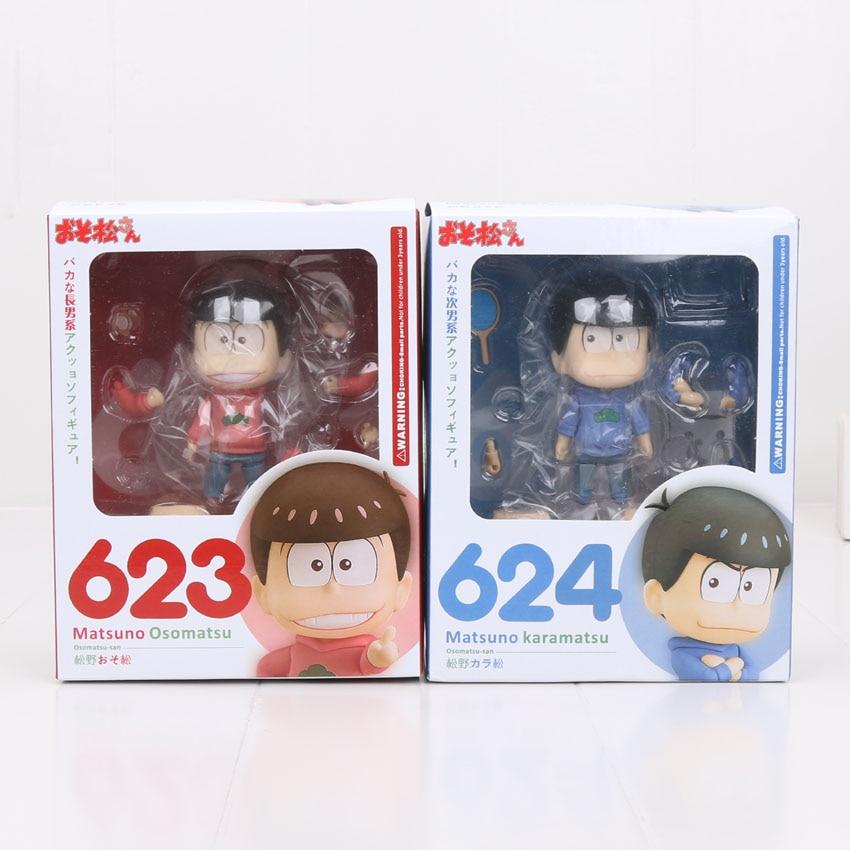 2pcs/set Nendoroid Matsuno Osomatsu 623# Matsuno Karamatsu 624# Osomatsu San PVC figure Toy New Hot ( China Version )