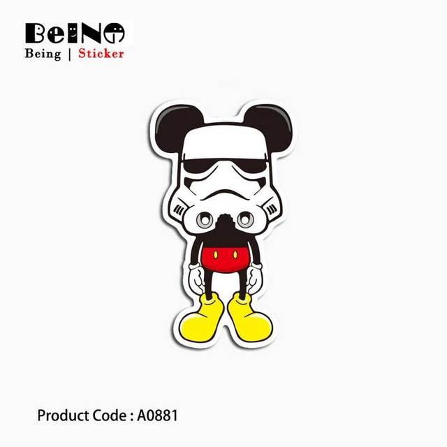 Mickey Mouse Chiến Tranh Sao Mặt Nạ Sticker Anime Va Li Không Thấm Nước Máy Tính Xách Tay Đàn Guitar Hành Lý Skateboard Đồ Chơi Đáng Yêu A0881 Dán QY30