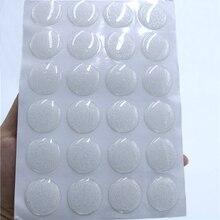 25mm Round 3D Transparent / Glitter Silver Epoxy Adhesive Circles Bottle Cap Stickers Caps DIY Craft Supplies 24pcs