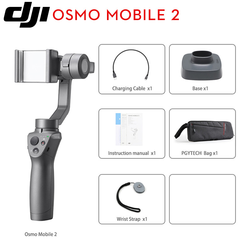 DJI Osmo Mobile 2 3 Axis Handheld Stabilizer for smart phone 3 axis gimbal Stent Zoom