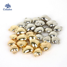 Heart-Ccb Charms-Pendants Beads Jewelry-Findings Necklace Diy Plastic Bracelet for Rhodium/gold-Color