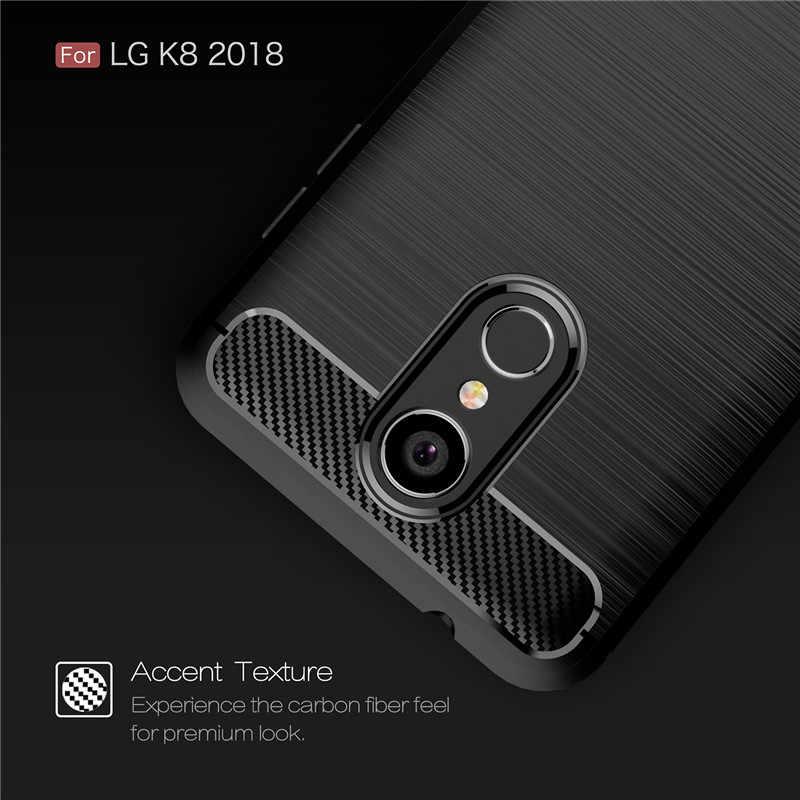 """BSNOVT Per LG K8 2018 Caso Per LG K9 Cassa Del Telefono Della Copertura Del Silicone Antiurto Spazzolato Per LG K8 2018/ aristo2 X210 Telefono Fundas 5.0"""""""