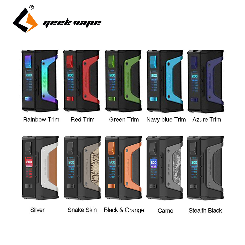 2pcs/lot New Original GeekVape Aegis Mod Aegis Legend 200W TC Box MOD Powered By Dual 18650 Batteries E-Cigs Mod No Battery