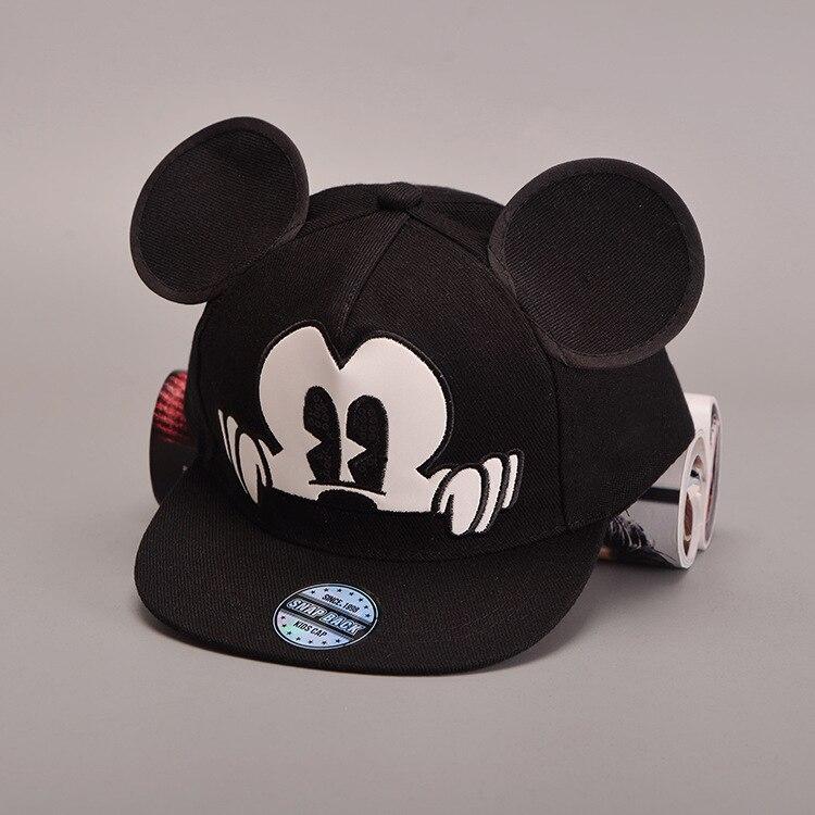 edbec8dbedc68 Precioso Niño Orejas de Mickey Snapback Sombrero gorras planas Hip Hop  Sombrero para Bebé Cap Niños Niñas Gorra de Béisbol casquette Envío Libre  C075 en ...