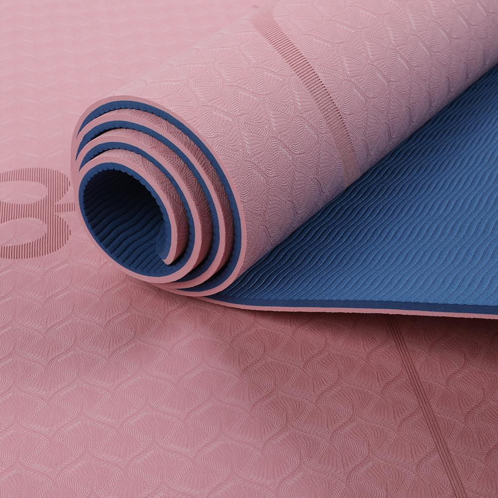 6 MM 183cm TPE Yoga Mat Fitness Sport Pad Non-slip Exercise Gym Mat Body Building Pilates Gymnastic Mattress