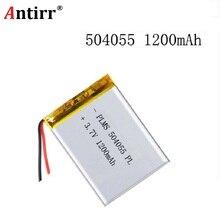 504055 3.7V 1200mAh Rechargeable Li-Polymer Li-ion Battery For mp3 mp4 mp5 phone DVR GPS power bank IPTV lexand sa 5 054055