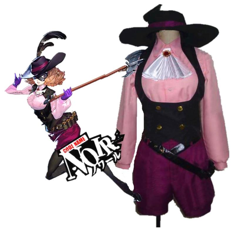 Costume de Cosplay Haru Okumura, personnage 5 Noir