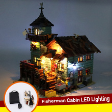 LED Light Up Kit For Leg Old Fishing Store Building Blocks 21310 DIY Toy Blocks ABS Durable Kids Easy Install Energy Saving USB цена в Москве и Питере