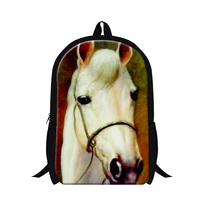 New Designer Horse Backpacks For Children Elementary Student Animal School Bag Latest Fashion White Horse Cool