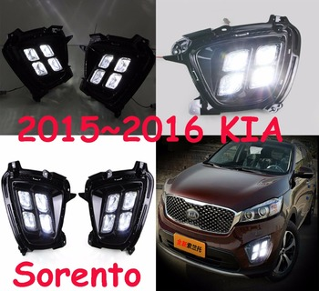 LED,2015~2018 KlA sorento daytime Light,sorento fog light,sorento headlight;soul,sorento,kx5,Sportage R,Rio,cerato,sorento light фото