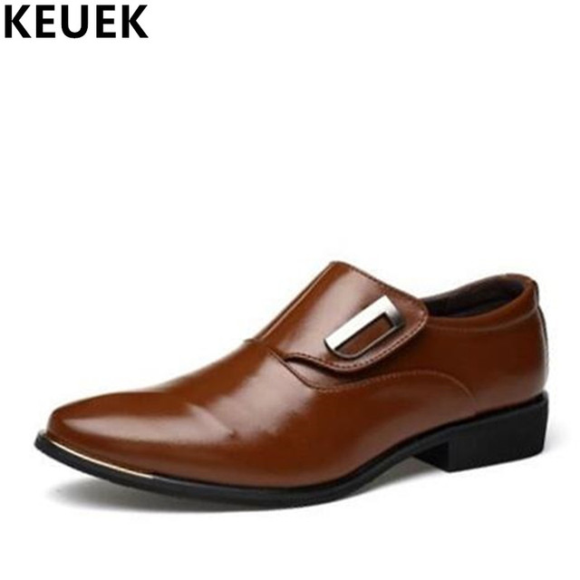 Appartements chaussures robe chaussures mocassins lacets de cuir hommes aYIrpgalds