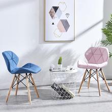 Стул для дома в скандинавском стиле, простой Красный Кофейный стул со спинкой, стул для маникюра, стул для туалетных принадлежностей, обеденный стул