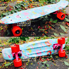 Free Shipping Children's Scooter Mini Cruiser Peny Board Skateboards Printed 22″ Skateboard Complete Longboard Deck Skate Board