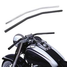 יוניברסל 7/8 22mm אופנוע כידון שחור/כסף גרור ידית בר להארלי ימאהה סוזוקי קוואסאקי הונדה נצחון