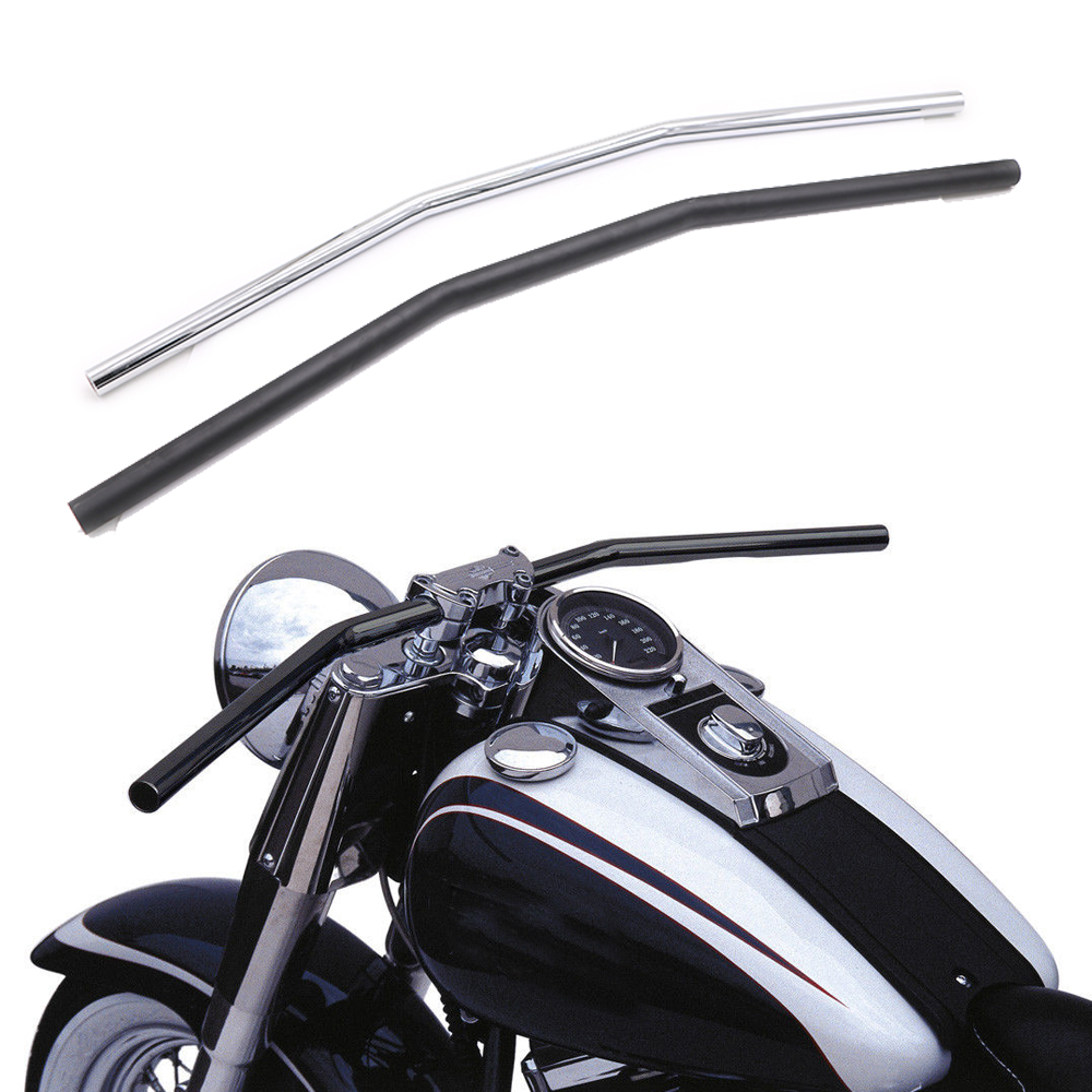 Universal 7/8'' 22mm Motorcycle Handlebar Black / Silver Drag Handle Bar For Harley Yamaha Suzuki Kawasaki Honda Triumph