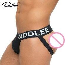 Taddlee Brand Sexy Men Underwear Jock Straps Cotton G Strings Thong Gay Penis Low Rise Jockstraps Brief Bikini Backless Buttocks