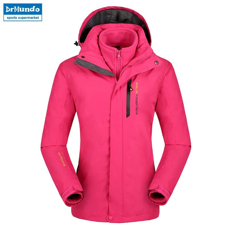 Plus Size snowboard jacket women waterproof snow jackets female Thermal ski jacket Fleece Mountain hiking ski