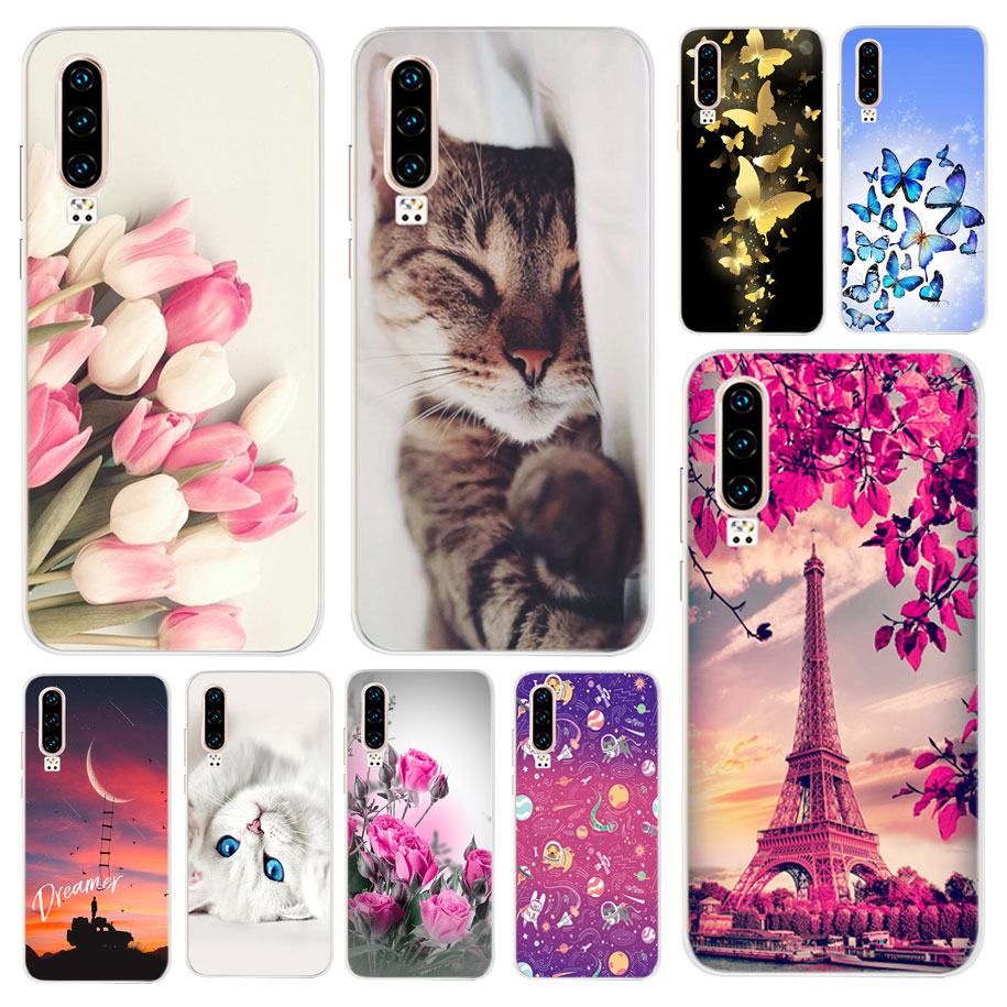 Silicone Case For Huawei P30 Case Transparent Full Protection Soft TPU Back Cover Phone Case For Huawei P30 ELE-L29 ELE-L09 Capa