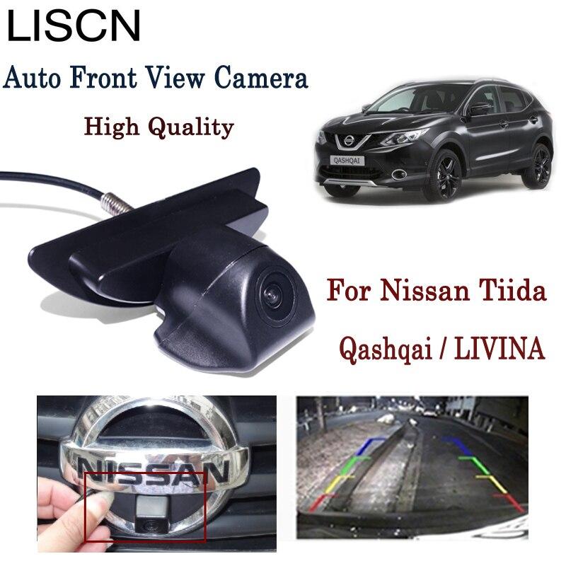 Caméra de stationnement avec Logo de vue avant de voiture pour Nissan Tiida Qashqai/LIVINA/CCD caméra de recul à Vision nocturne Installation dans le Logo de la voiture