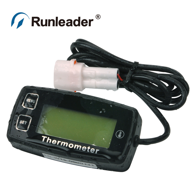 Waterproof Tthermometer with RL-TS002 PT100 -20 +300 sensor For tractor ATV motorcycle Irrigation Equipment pump  Lawn trimmers