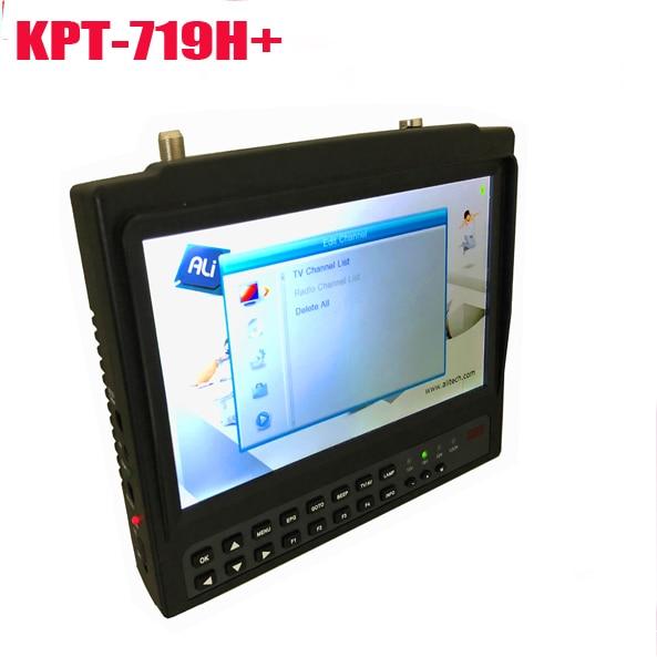 Détecteur et moniteur Satellite à écran large Portable de 7 pouces kpt-719H + lecture des canaux dvb s2