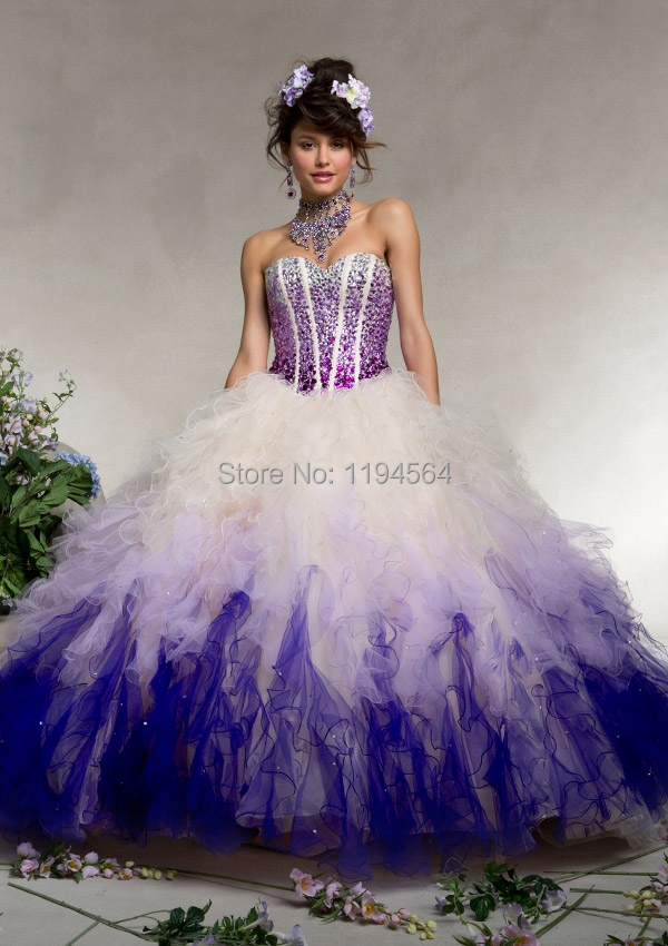 Purple Masquerade Dresses for Sweet 16