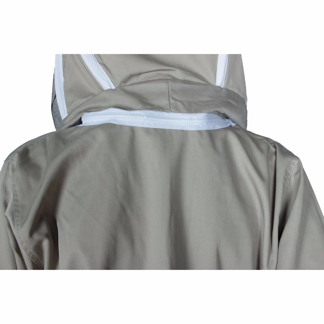 Bee Keeping Suit Removeable Hat Anti-bee Protective Safety Coveralls Smock Equipment Supplies Beekeeping Jacket 3