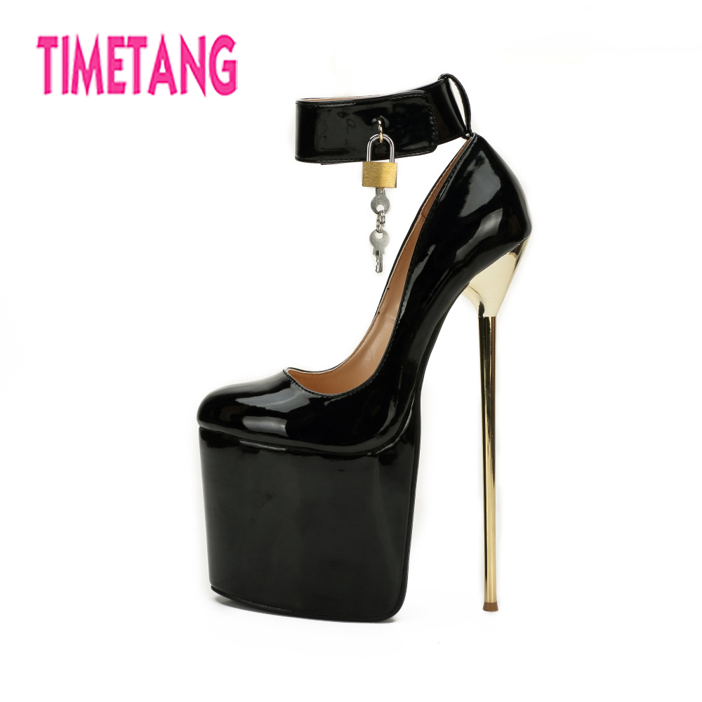 Talon 40 Haute Taille 50 Black forme Femmes Sexy Super Queen Chaussures Club Drag Grande Cm Pompes Night Magnifique 22 Timetang Travesti Plate Mince red zYwq4vE