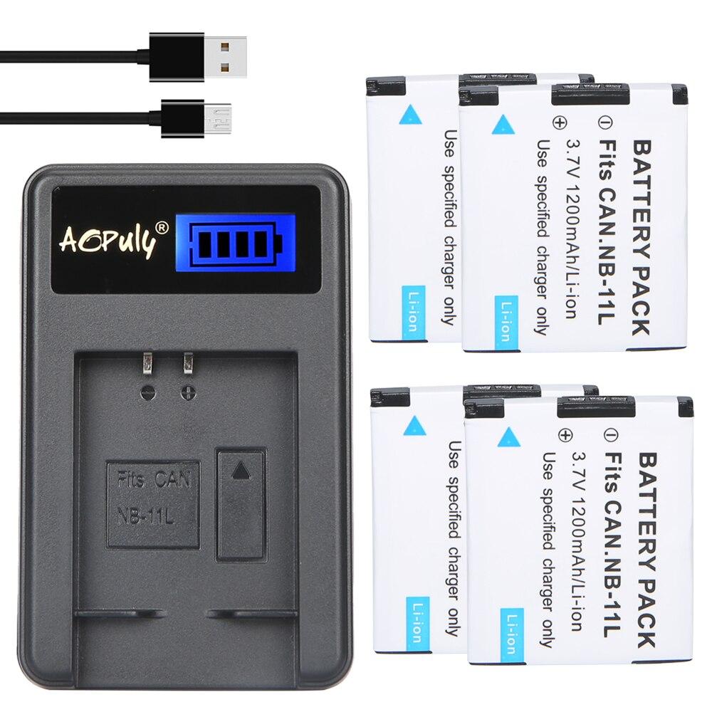 4x bateria NB-11L NB11L NB 11L baterias bateria + Carregador USB Para Canon A2600 A3500 A4000IS IXUS 125 132 140 240 245 265 155 HS