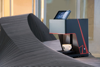 Free to customize personalized flowers ten seconds Coffee Printer with Touch screen operation