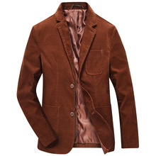 2016 neue Herbst Winter Männer Cord Blazer Slim Fit Anzug Jacke Mantel Lässig Blazer Marke Kleidung Mode Business Blazer