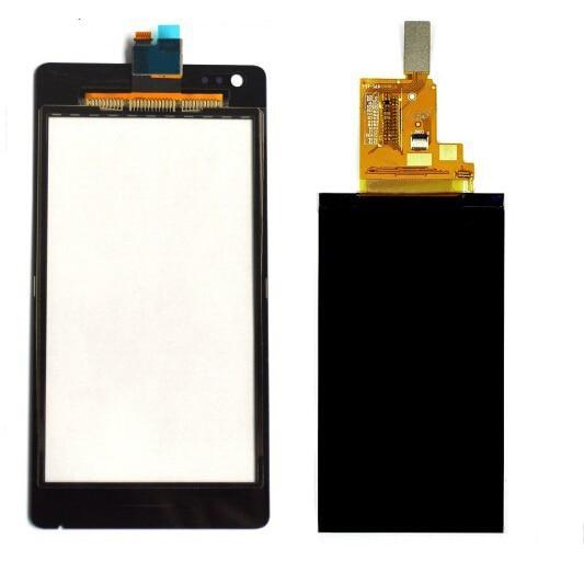imágenes para Pantalla LCD Monitor de Pantalla del Monitor de Panel + Pantalla Táctil Negro digitalizador Del Sensor de Cristal para Sony Xperia M C1904 C1905 C2004 C2005