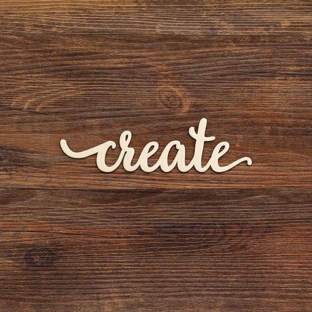 "Wooden Script Plaque Sign Word /""Dream/""  Decoupage Decoration Art Craft"