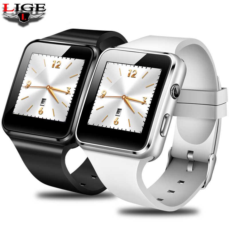 LIGE 新規スマート腕時計男性 Android 携帯電話レロジオ SIM TF カードカメラスポーツ歩数計デジタル音楽プレーヤー