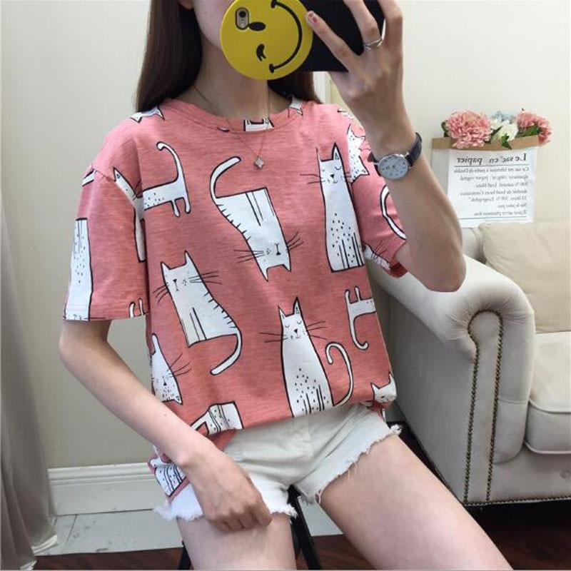 Kawaii Cat Print T- Shirt 2