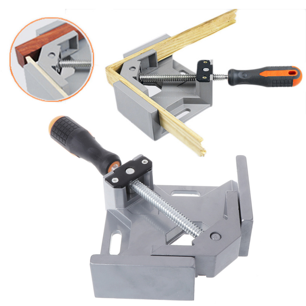 90 dgree Right Angle Carbide Vice Clamps Woodworking Clip Photo Frame Gussets Tools JUN13 ninth world new single handlealuminum 90 degree right angle clamp angle clamp woodworking frame clip right angle folder tool