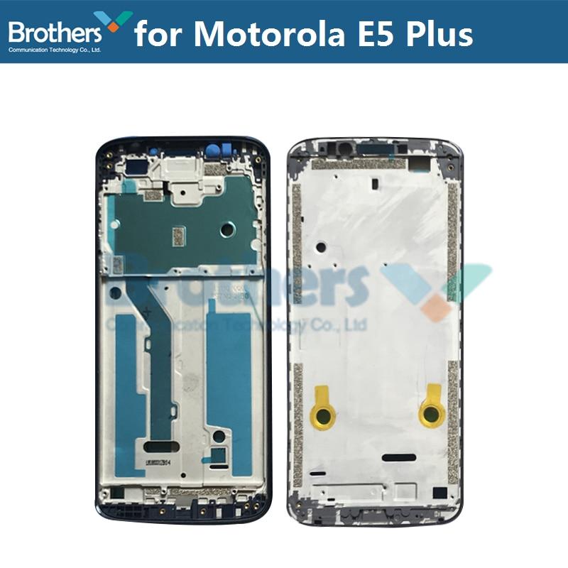 LCD Frame Bezel For Motorola Moto E5 Plus Front Frame Front Housing For Motorola E5 Plus Replacement Parts Black Gold Screen