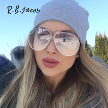 2017 Oversize Transparent Cat Eye Brand Designer Mirror Sunglasses Women UV400 Lady Clear Sun Glasses Italy Big Size Male Female