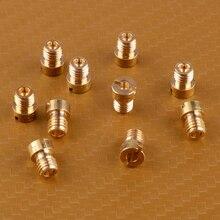 LETAOSK 10 шт. Золотой основной форсунки набор 5 мм 75-98 подходит для Dellorto карбюратор