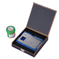BGA Reballing Stencil Kit With Solder Paste for iPhone X Motherboard Planting Tin Jig Fixture Holder Phone Repair   Tools