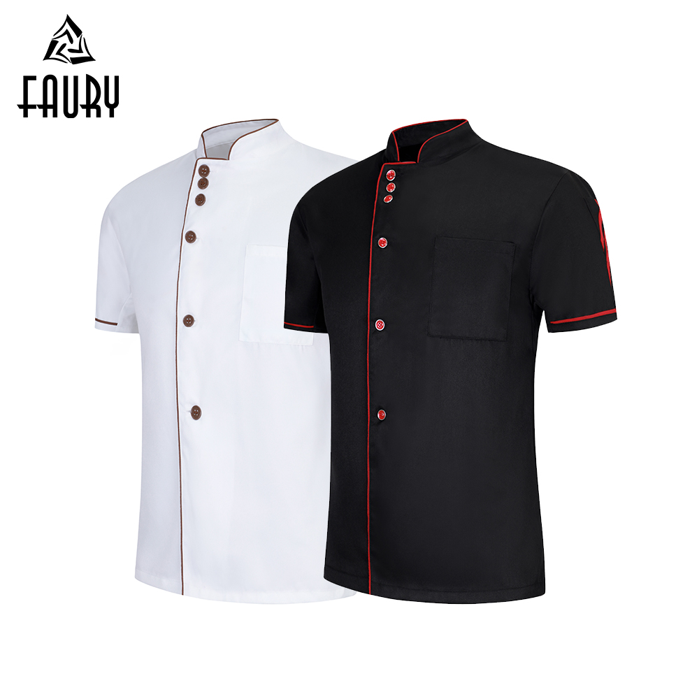 Wholesale Chef Clothes Dessert Cake Shop Unisex Restaurant Uniform Kitchen Men Women Cook Shirt Hotel Barbershop Work Overalls